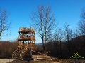 Wieża widokowa na Przełęczy Przysłup 749m u podnóża góry Matragona 990m, a dokładnie na granicy między Gminami Zagórz i Komańcza.