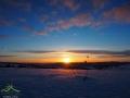 Zachód słońca nad górą RZEPEDKA 708m.
