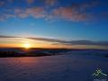 Zachód słońca od strony Beskidu Niskiego, a tu dopiero początek wędrówki... Czy nie zawrócić?