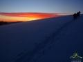 Jednak warto było dalej iść, bo po zachodzie słońca dopiero chmurki przybrały fantastycznych kolorów!