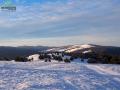 Widok z Wysokiego Wierchu 649m na m.in. Rzepedkę 708m, Rzepedź, Turzańsk, Szczawne.