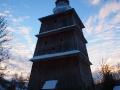 Najwyższa w polskich Karpatach dzwonnica słupowa przy cerkwi w Turzańsku.
