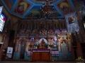 Ikonostas i odnowiona polichromia we wnętrzu cerkwi w Turzańsku budowanej od 1801-1803r.