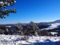 Widoki ze stoków Suliły w stronę Chryszczatej 997m, Łopiennika 1069m w okolicach Cisnej, pasmo graniczne i aż po połoniny!