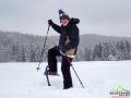 Wędrówka na rakietach śnieżnych po Bieszczadach każdemu sprawia przyjemność!