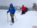 Śniegu tej zimy było tak dużo, że mało który turysta decydował się na stawianie innych śladów niż utworzonych przez przewodnika.