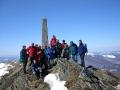 wycieczki Bieszczady ukraińskie - Pikuj 1408m - grupa na najwyższym szczycie Bieszczad