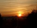 wycieczki Bieszczady ukraińskie - zachód słońca nad Dobromilem
