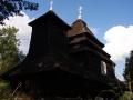 wycieczki Bieszczady ukraińskie - drewniana cerkiew w Użoku