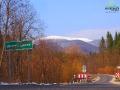 Widok z Ustrzyk Górnych na Małą i Wielką Rawkę z drogi podczas przejazdu Wielką Obwodnicą.
