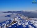 TARNICA 1346m, Szeroki Wierch, Bukowe Berdo podczas bieszczadzkiej inwersji w zimie.