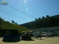 Widok na zaporę wodną w Solinie podczas zwiedzania jej wnętrza.