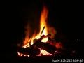 Bieszczadzkie ognisko z kiełbaskami - propozycja na wieczór.