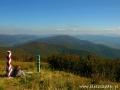 Na szlaku w Bieszczadach położonym na granicy między Polską, a Ukrainą w drodze do Kremanarosa 1221m.