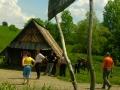 Bacówka z prawdziwymi serami owczymi podczas wycieczki po Bieszczadach.