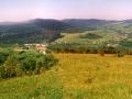 Panorama z góry Suliła 759m na Rzepedź i Rzepedkę 706m.