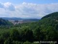 Widok na zaporę wodną w Solinie z Bóbrki.