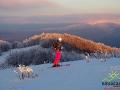 Zjazd na nartach z połonin - wyciąg na tej górce wyłącznie we własnych nogach ;-)