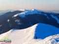 POŁONINA WETLIŃSKA zimą widziana ze szczytu Połoniny Caryńskiej 1297m.