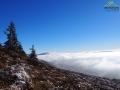 Morze mgieł w dolinach bieszczadzkich, a na ustach piosenka Opadły Mgły SDM...