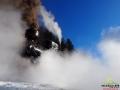 Niedawno odrestaurowany parowóz tworzy niepowtarzalny klimat i niemalże przenosi w czasie...