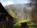Wycieczka lokomotywą parową dla przewodników bieszczadzkich.