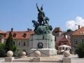 WĘGRY wycieczka - Eger - pomnik Kossuta na rynku