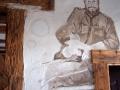 Z zawiadowcą widocznym na malowidle ściennym mieliśmy przyjemność testować trasę na drezynach!