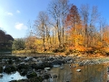Zdjęcie panoramiczne od wiaduktu ciuchci po kaskadę.