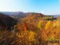 Dolina rzeki Osława jest jedną z najbardziej malowniczy w Bieszczadach.