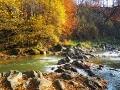 Zdjęcie wykonane 20 października przy bardzo niskim stanie wody w rzece Osława.