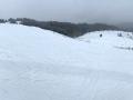 Zdjęcie panoramiczne jednej z najszerszych tras narciarskich w Bieszczadach w Kalnicy.