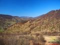 Jeden z widoków na góry podczas przejazdu koleją Sianki - Wołosianka.