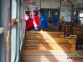 Wnętrze pociągu kolei zakarpackiej.