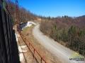 Kolejne wiadukty tuż przed przełęczą użocką, na której odbywa się obowiązkowa kontrola dokumentów.