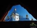 Cerkiew widziana z dzwonnicy w Jasienicy Zamkowej.