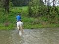 Jednak jakiś przejazd przez wodę się nadarzył - wprawdzie to potok Płonka, ale zawsze coś!