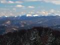 Panorama z wieży widokowej na górze KORBANIA / PATRYJA / PATROLA w stronę połonin.