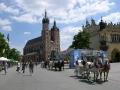 Rynek w Krakowie i kościół Mariacki