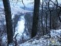 Widok na rzekę Osława z punktu widokowego przy trasie kuligu.