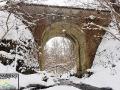 Na trasie ciuchci zostało wybudowanych wiele wiaduktów. Ten najwyższy znajduje się zaledwie 150m od ogniska.