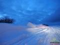 Niektórymi drogami w Bieszczadach przez 2 dni było trudno przejechać przez wiejący wiatr.