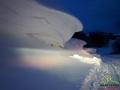 Zaspy śnieżne między Wysoczanami, a Płonną.