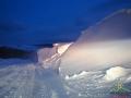 Piękno zimy ukształtowane przez wiatr na pograniczu Bieszczad i Beskidu Niskiego.
