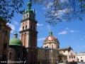 Cerkiew Uspienia (zaśnięcia Matki Bożej) oraz kościół Dominikanów - LWÓW.