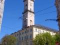 Ratusz i wieża widokowa na rynku Lwowa.