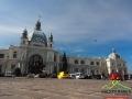 DWORZEC KOLEJOWY we Lwowie wzorowany na dworcu wiedeńskim uważanym za najpiękniejszy na świecie.