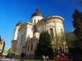 CERKIEW PRZEMIENIENIA PAŃSKIEGO wybudowana na ruinach rzymskokatolickiego kościoła pw. Trójcy w 1906.