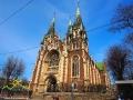 Kościół pw. św. Elżbiety budowany ze składek głównie kolejarzy w latach 1904–1911.