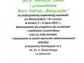 Podziękowanie za wycieczki LWÓW i BIESZCZADY, Nauczyciele Jarocin, 3-6 lipiec 2013r.